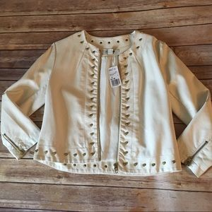 Forever 21 Faux Leather- Studded Jacket